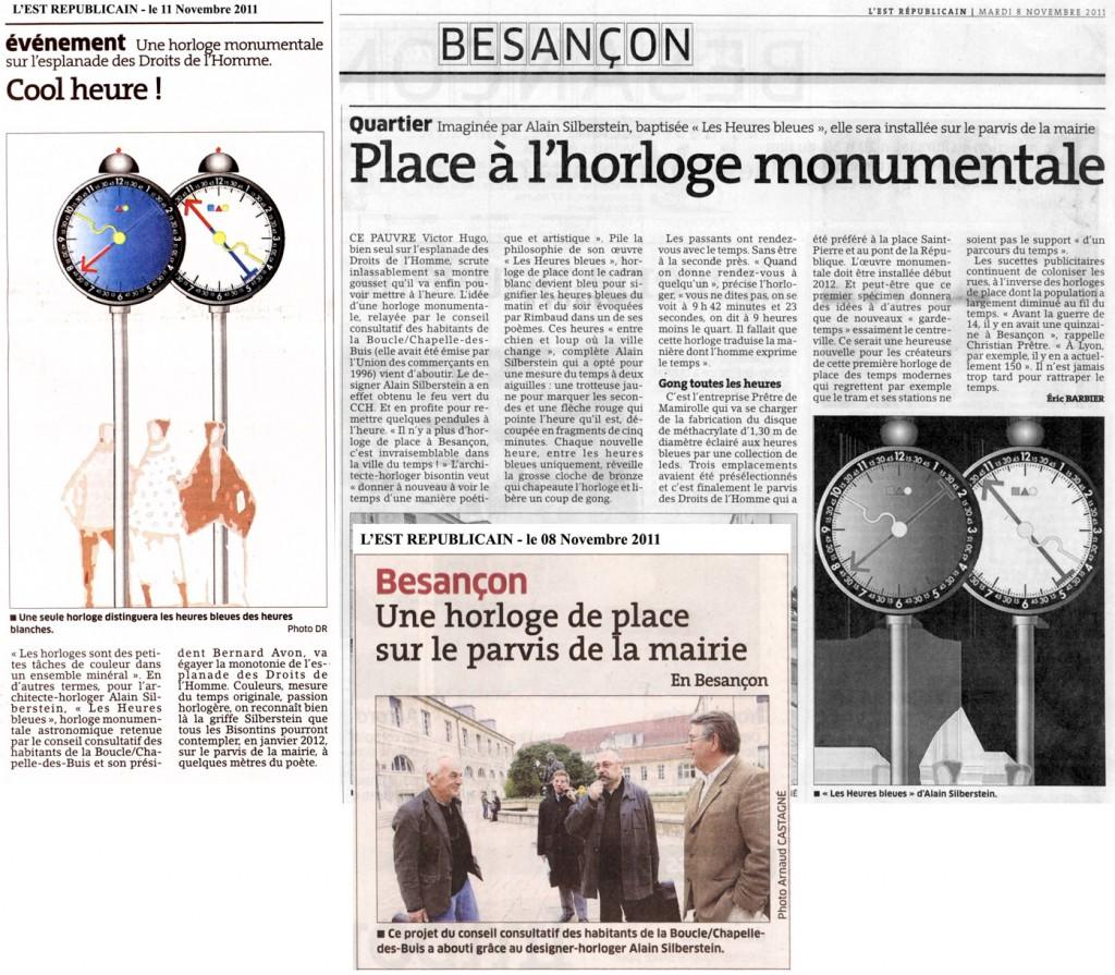 Horloge de place Besançon