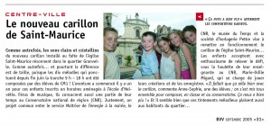 Le nouveau carillon de Saint-Maurice