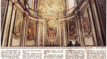 Article de l'est républicain concernant la cathédrale Saint Jean à Besançonean low